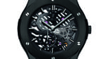 Hublot classic fusion extra-thin skeleton black ceramic_front_view