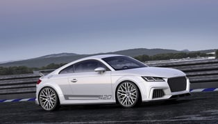 The audi tt quattro sport concept show car_medium