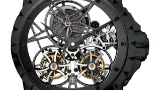 Excalibur-double-flying-tourbillon-skeleton-in-black-titanium